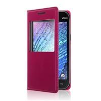 Samsung Galaxy Core Prime Kılıf Deri Dikişli