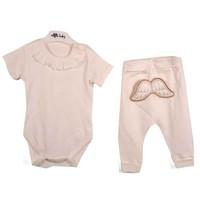 Angels Baby Melek Kanatlı Body Ve Şalvar Kız Bebek Takımı