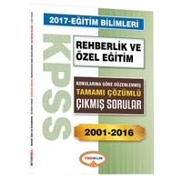 Yediiklim Yayınları Kpss Eğitim Bilimleri Rehberlik Ve Özel Eğitim Konularına Göre Düzenlenmiş Tamamı Çözümlü 2001-2016 Çıkmış Sorular
