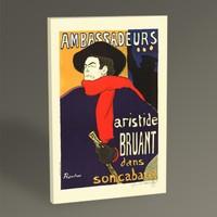 Tablo360 Henri de Toulouse- Lautrec Aristide Bruant 45 x 30