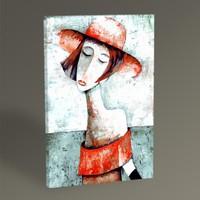 Tablo360 Şapkalı Kadın II Tablo 45 x 30