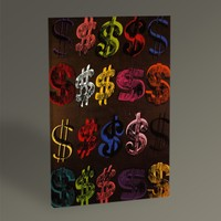Tablo360 Andy Warhol U.S Dollar Sign 45 x 30