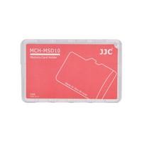 JJC Memory Card Case Hafıza Kartı Tutucu (10 MicroSD Kart - Kırmızı)