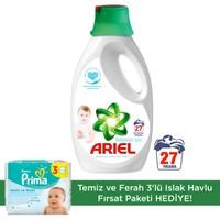 Ariel Baby Sıvı Çamaşır Deterjanı 27 Yıkama Bebekler İçin + Prima Islak Havlu Temiz ve Ferah 3'lü Fırsat Paketi 192 Yaprak
