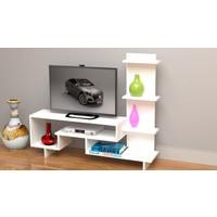Rafline Simge Tv Sehpası-Beyaz