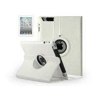 Toptancı Kapında 360 Derece Dönebilen İpad Mini 1/2/3 Uyumlu Deri Kılıf - Beyaz
