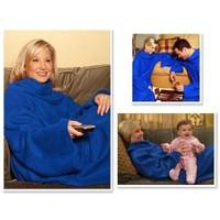 Toptancı Kapında Giyilebilir Kollu Battaniye - Mavi