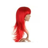 Toptancı Kapında Uzun Peruk Saç Kırmızı
