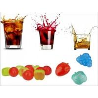 Toptancı Kapında Meyve Şekilli Erimeyen Plastik Buz Küpü (20 Adet)