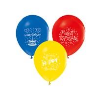 Toptancı Kapında Happy Birthday Baskılı Balon 10 Adet