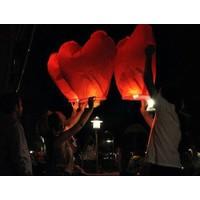 Toptancı Kapında Kalp Şeklinde Dilek Feneri ( 5 Adet )