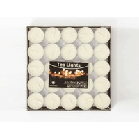 Toptancı Kapında Kokusuz Tealight Mum (50 Adet) - Beyaz