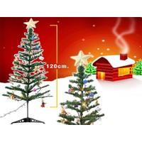 Toptancı Kapında Yılbaşı Ağacı 120Cm Pirinç Işık Ve 24 Adet Ağaç Süsleri