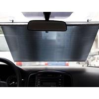 Toptancı Kapında Katlanabilir Araç Güneşlik 50 X125 Cm - Siyah