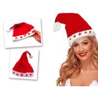 Toptancı Kapında Yılbaşı Özel Işıklı Noel Baba Şapkası