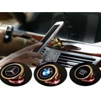 Toptancı Kapında 360 Derece Dönen Logolu Araç İçi Mıknatıslı Telefon Tutucu - Wolkswagen