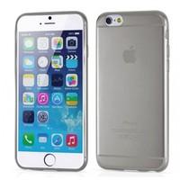 Toptancı Kapında Apple İphone 4/4S Füme Şeffaf İnce Silikon Kılıf