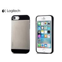 Toptancı Kapında Logitech İphone 5 - 5S Metal Kapak - Siyah