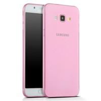 Toptancı Kapında Samsung Galaxy A7 Pembe Şeffaf İnce Silikon Kılıf