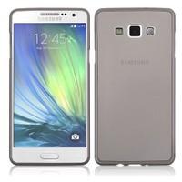 Toptancı Kapında Samsung Galaxy S3 Füme Şeffaf İnce Silikon Kılıf