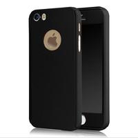 Microcase Apple iPhone SE-5-5S 360 Protect Fit Tam Koruma Kılıf+Cam