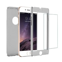 Microcase Apple iPhone 6-6S 360 Protect Fit Tam Koruma Kılıf+Cam