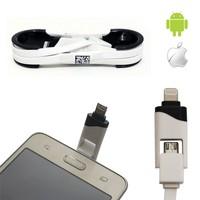 Helen's Apple ve Android Uyumlu Data ve Şarj Kablosu 2si 1 Arada Tek Kablo