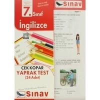 7. Sınıf İngilizce Çek Kopar Yaprak Test (24 Adet)