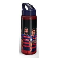 Yaygan Barcelona Lisanslı 600 ml Pipetli Alüminyum Matara (Arda Turan-Messi Baskılı)