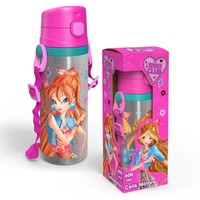 Yaygan Winx Club 600 ml Pipetli Çelik Matara