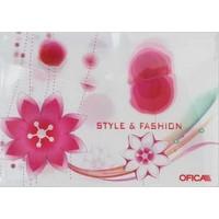 Ofıca Fd 5200 Çıtçıtlı Dosya Çiçek Desenli Y09