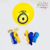 Nazar Boncuğu Baskılı Balon 10'Lu Paket