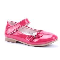 Happy Shoes Cırtlı Fiyonklu Rugan Babet