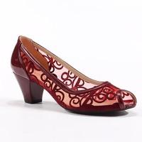 Topuz Rugan Önü Açık Topuklu Ayakkabı