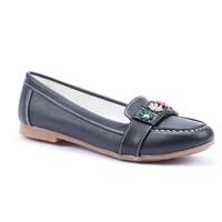 Rüzgargülü Çiçekli Cilt Kız Çocuk Babet Ayakkabı