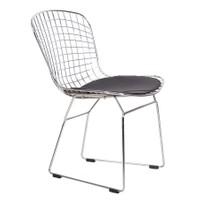 Şaziye Metal Eames Tel Sandalye - Paslanmaz Çelik