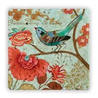 Oscar Stone Birds On Branch Iı Taş Tablo