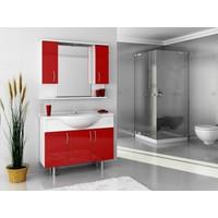 Bestline Auraline Vira 106 Banyo Dolabı - Kırmızı Beyaz