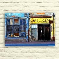 Fotocron Cafe Deu Gare -2 Tablo 24X34 Cm