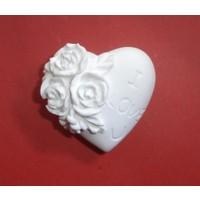 Yıldız Hobi I Love U Kalp Silikon Sabun ve Kokulu Taş Kalıbı