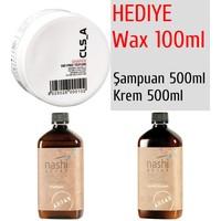 Nashi Argan Şampuanı 500Ml + Krem 500Ml + Wax 100Ml