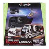 Silverlit Nano Falcon Kumandalı Helikopter ve TIR 3CH Siyah
