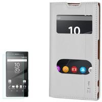 Cep Market Sony Xperia Z1 Compact Kılıf Kapaklı Milano + Kırılmaz Cam