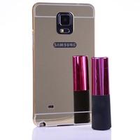 Gpack Samsung Galaxy Note 4 Kılıf Metal Aynalı Bumper