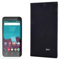 Cep Market Vodafone Smart 4 Max Kılıf Kapaklı Magnum Elit Kılıf + Kırılmaz Cam