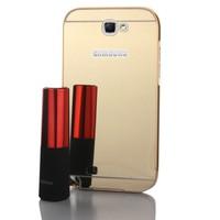 Gpack Samsung Galaxy Note 2 Kılıf Aynalı Metal Bumper
