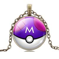 Pokemon Bakır Zincirli Metal Kolye dg38