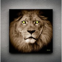 Zoodesignstudio Kanvas Tablo Yıldız Aslan - 50X50
