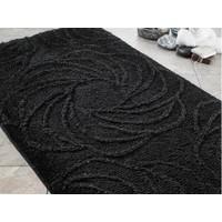 Confetti Alara İkili Set Siyah Banyo Halısı 60X100 Cm