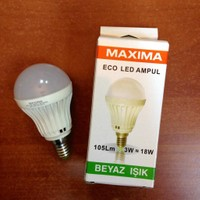 Maxıma Eco Led Ampul 3W - Beyaz Işık